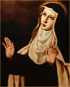 Hl. Maria Magdalena von Pazzi († 1607). Bild: catholictradition.org